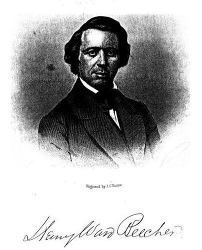 Henry Ward Beecher. (Engraved by J. C. Buttre)
