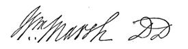(signature) Wm. Marsh, D. D.