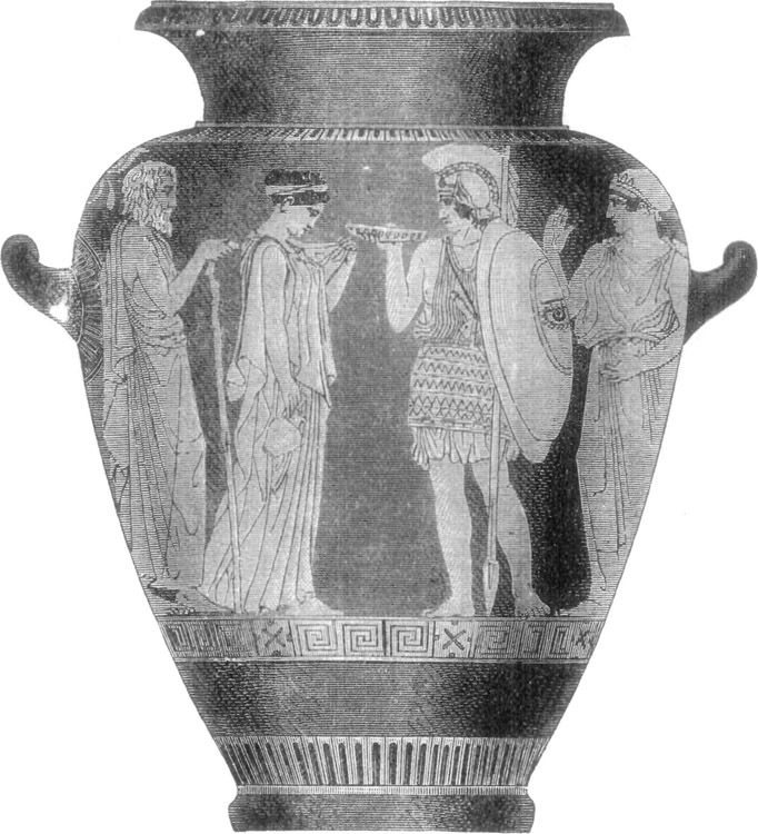 VASE REPRESENTING A MARRIAGE.