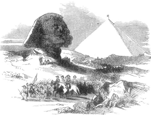 THE GREAT PYRAMID AND SPHINX.