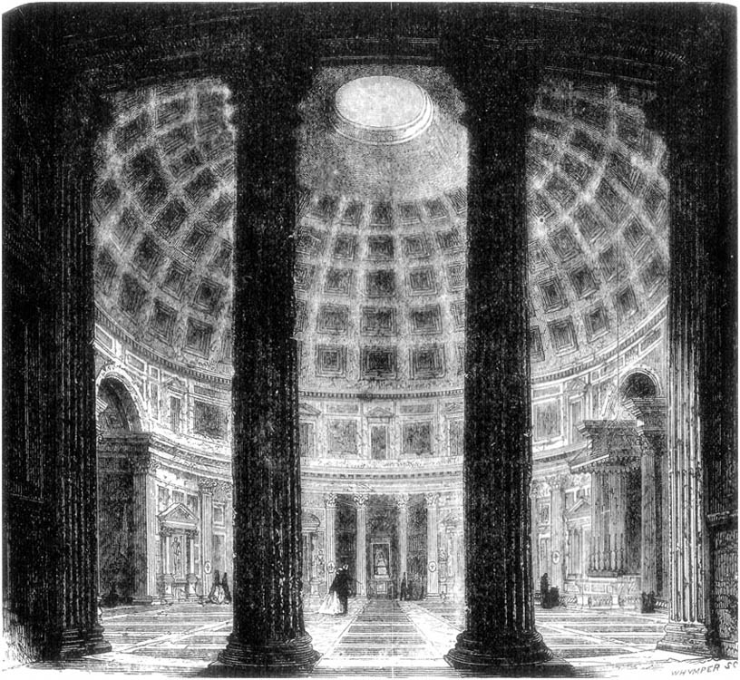 INSIDE VIEW OF PANTHEON.