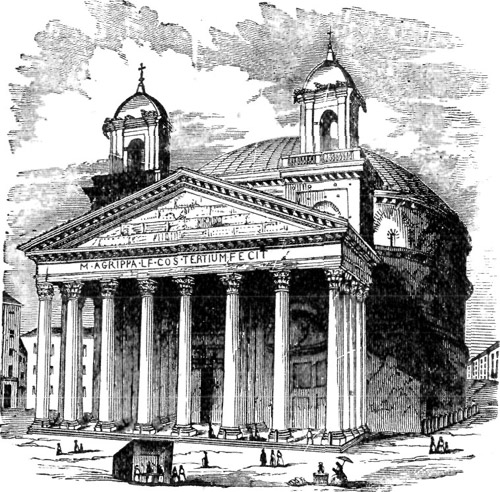 THE PANTHEON AT ROME.