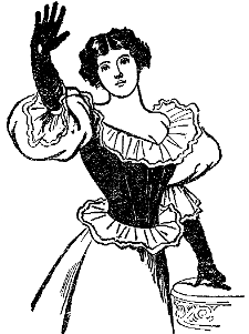 Lady with hand raised