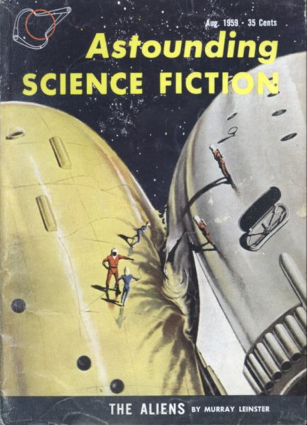 Cover of  Astounding Science Fiction August 1959