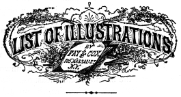 LIST OF ILLUSTRATIONS BY FAY & COX 105 NASSAU ST. N.Y.