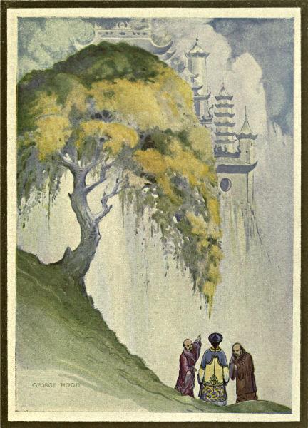 Three men meet under a cassia-tree