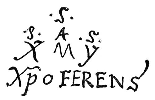 Cipher autograph of Columbus.
