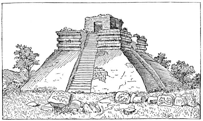 Teocalli, Aztec Temple for Human Sacrifices.