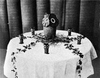 An Owl Table. Hallowe'en Tables, I.