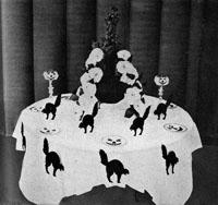 A Black-Cat Table. Hallowe'en Tables, II.