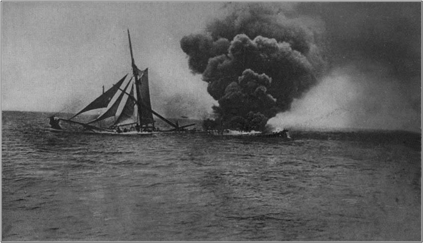 A Torpedoed Schooner
