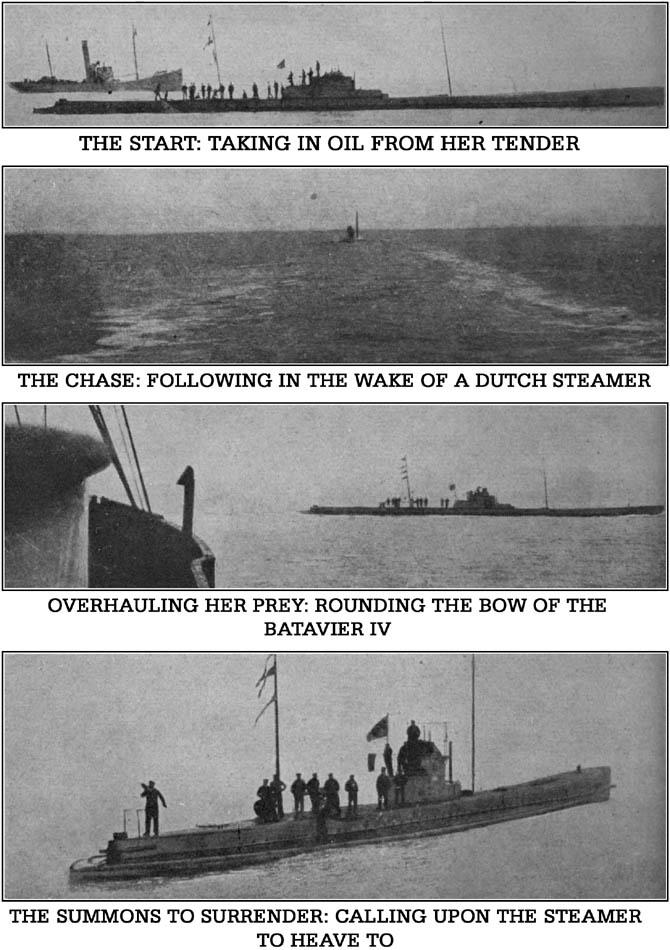 Von Forstner's Submarine in Action in the North Sea 1