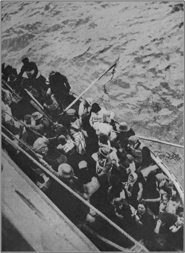 Lifeboat Leaving the Sinking P. and O. Liner Arabia