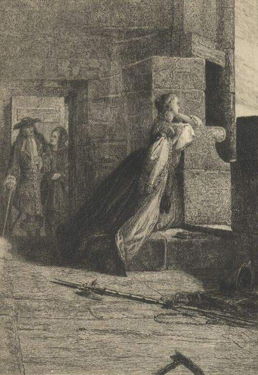 Edith on the Battlements--Frontispiece