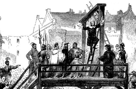 Execution of James Renwick, Edinburgh, 1688.