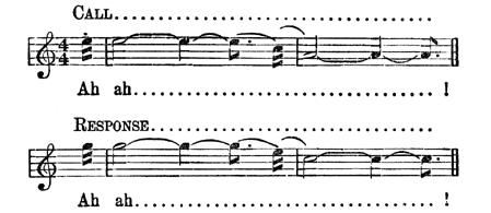 Alabama Call and 'Sponse Musical Notation
