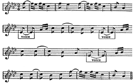 Tune for Little Quills Musical Notation