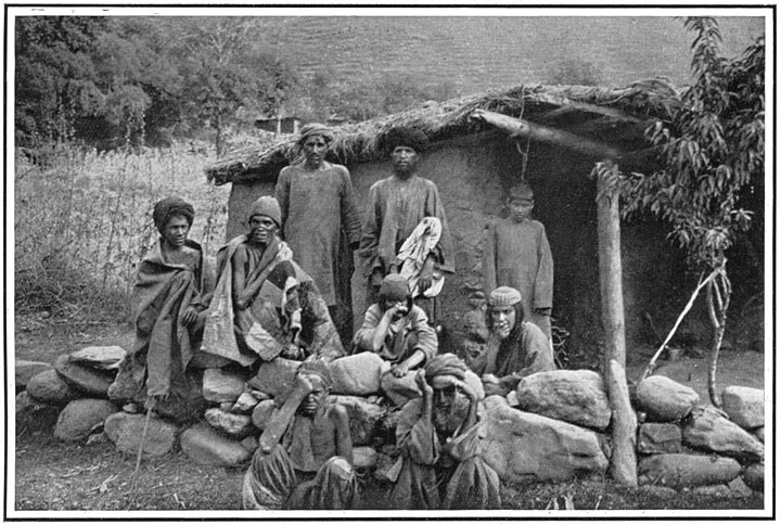 A Group of Lepers at a Zyarat or Shrine in Hazara