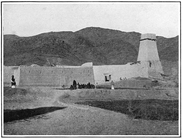 The Khaiber Pass. A Village in the Pass