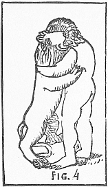Hercules wrestling a lion