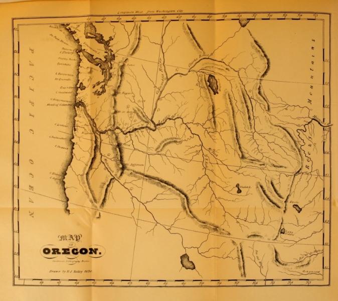 MAP OF OREGON.