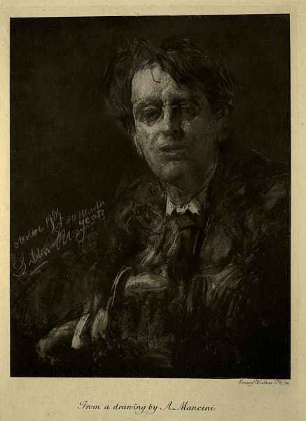 Portrait of Yeats: Emery Walker Ph. sc. From a drawing by A. Mancini