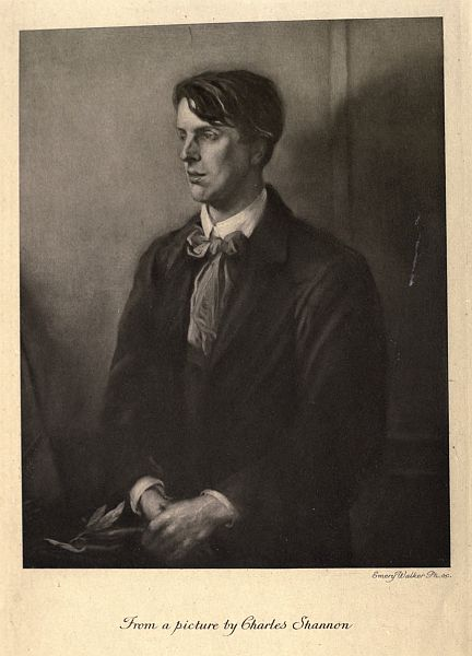 Yeats: From a picture by Charles Shannon, Emery Walker, Ph. sc.