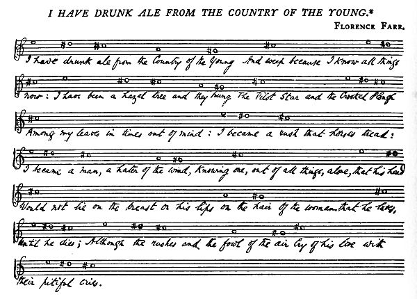 Music: I Have Drunk Ale from the Country of the Young