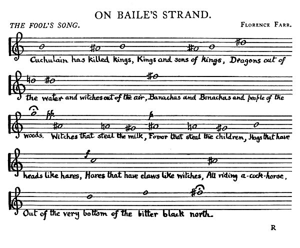On Baile's Strand music The Fool's Song