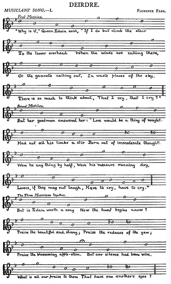 Music: Deirdre Musician's Song