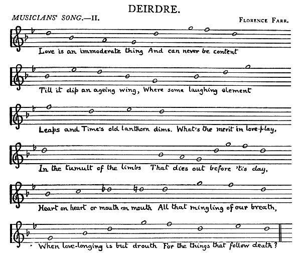 Music: Deirdre: Musicians Song II