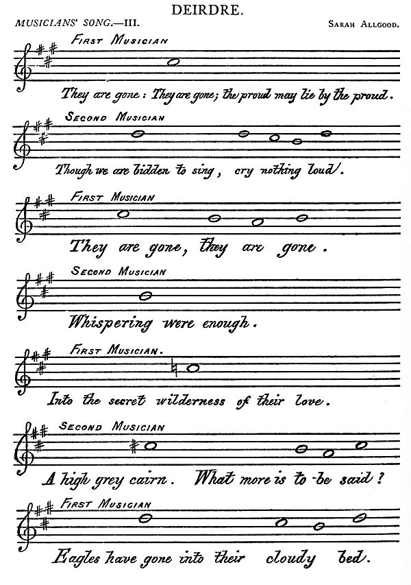 Music: Deirdre: Musician's Song III by Allgood