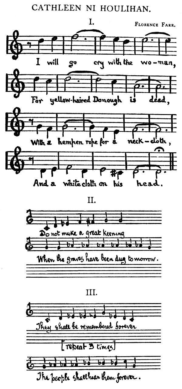 Music: CATHLEEN NI HOULIHAN