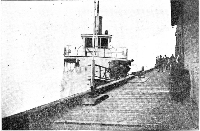 VERONA AT EVERETT DOCK, under same tide condition as at time of Massacre.