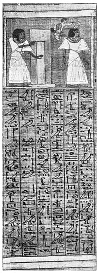 Vignette and text of the Theban Book of the Dead from the Papyrus of Ani.