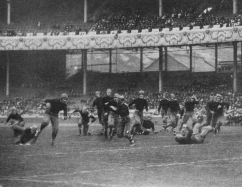 Barrett on one of his famous dashes