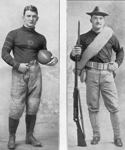 Johnny Poe, football player and soldier