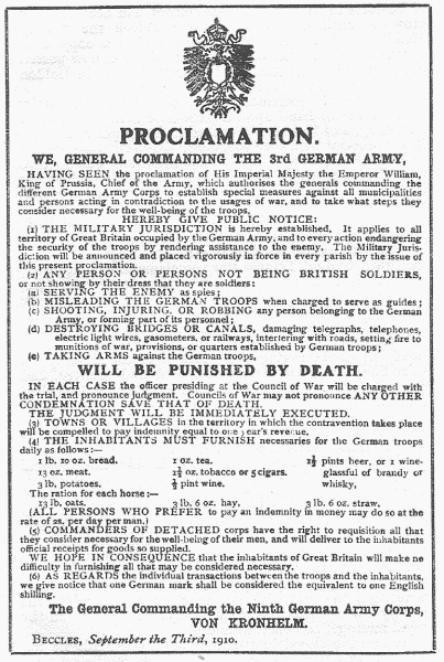 THE ENEMY'S FAMOUS PROCLAMATION