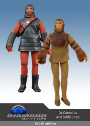 Diamond Select's Cornelius and Soldier Ape Mego Reproductions