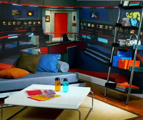 star trek bridge wall mural brian carnell com 10 things to help turn your bedroom into a spaceship