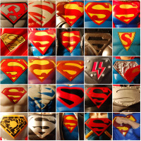 Superman Symbols from Action Figures