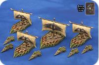 Uncharted Seas - Orc Raider Fleet