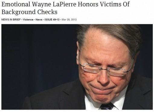The Onion: Wayne LaPierre Story