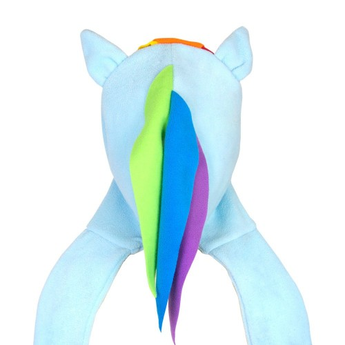 Rainbow Dash Fleece Scarf Hat