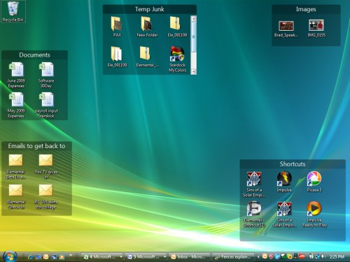 Stardock - Fences Screenshot