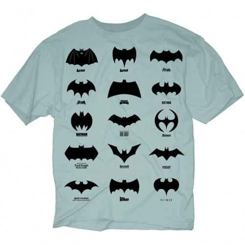 Evolution of the Batman Symbol T-Shirt