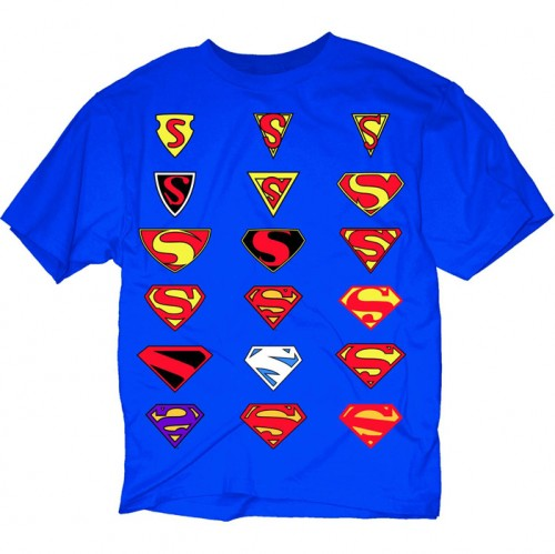Evolution of the Superman Symbol T-Shirt