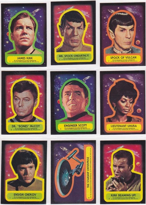 Star Trek Topps Stick Inserts