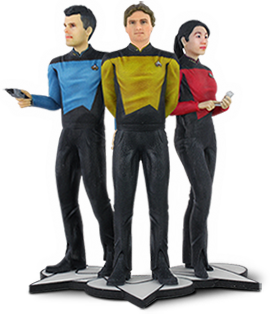 3D Systems - Star Trek - The Next Generation Figures