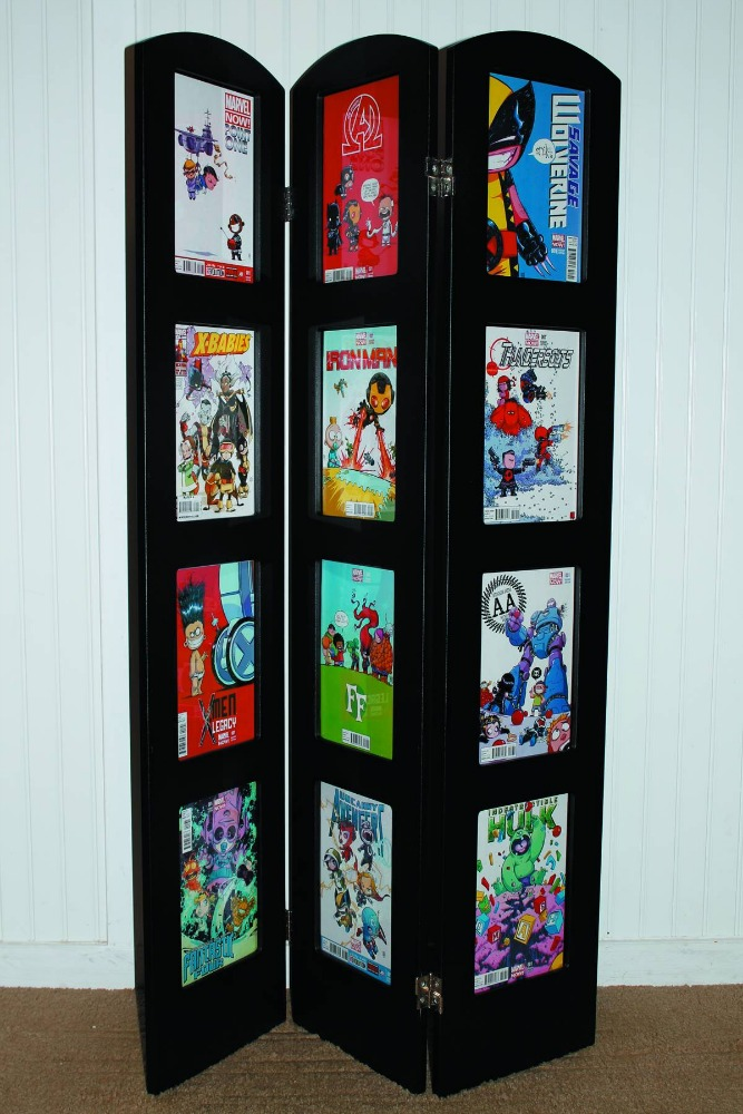 tri fold museum edition comic book display frame